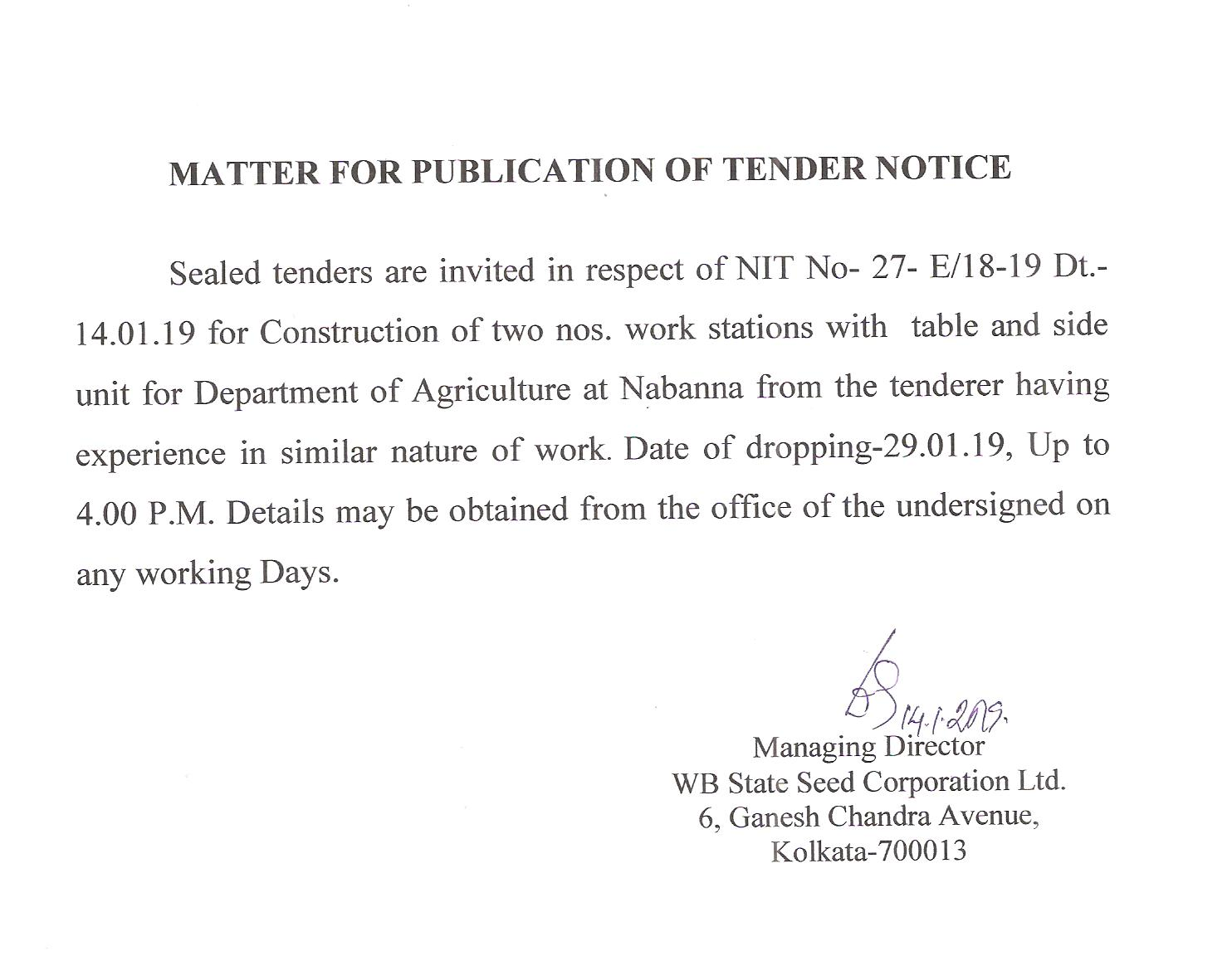 f74d218c19df4c publication of re- tender vide nit no. 22-E · NIT-28 (re-e Ten) · NIT-29  for Vermi and PROM · NIT-30 for PP Chem · e-Tender Notice (NIT-28